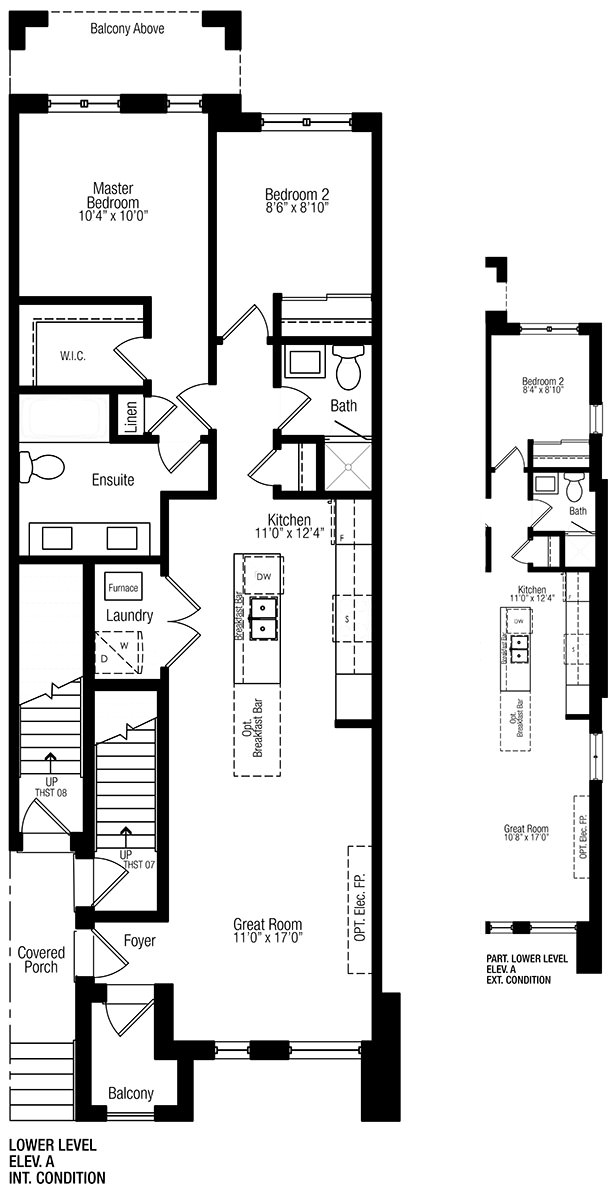 Modern manors townhouse in richmond hill for Stacked townhouse floor plans